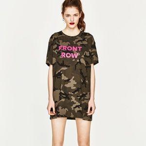 Zara camouflage print dress
